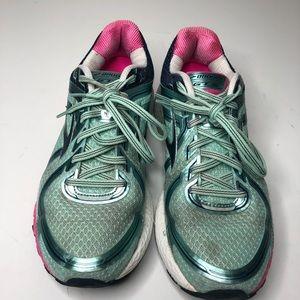 Brooks Shoes - Brooks GTS 16 green pink sz 9.5 Tennis Shoes